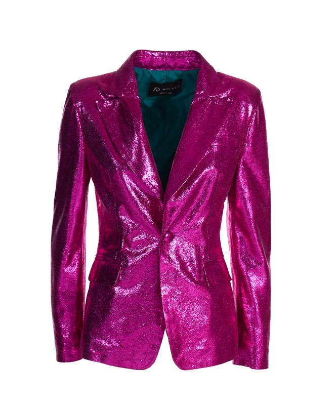 Genuine Leather Jacket - Art. Amman fuchsia laminated