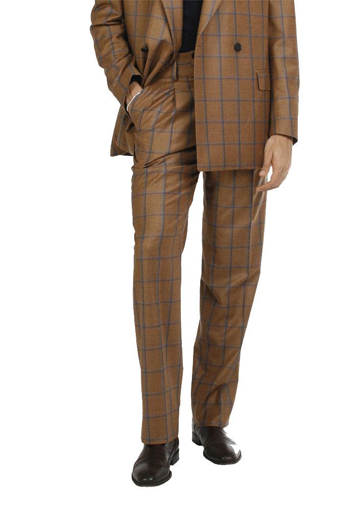Trouserss - Art. MEIKO TROUSERS V7AGT.14FW21-22 - OCHER CHECK