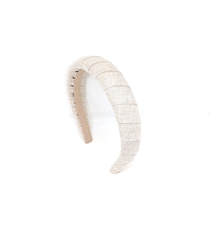 Headband - Art. Plisse Large Linen
