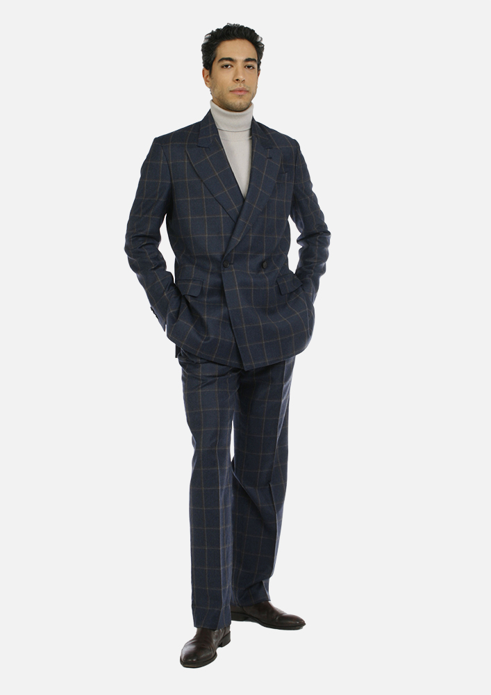 Trousers - Art. MEIKO TROUSERS V3AGT.37FW21-22 - BLUE CHECK