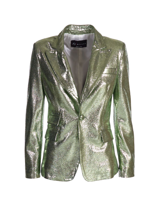 Genuine Leather Jacket - Art. Amman light green laminated