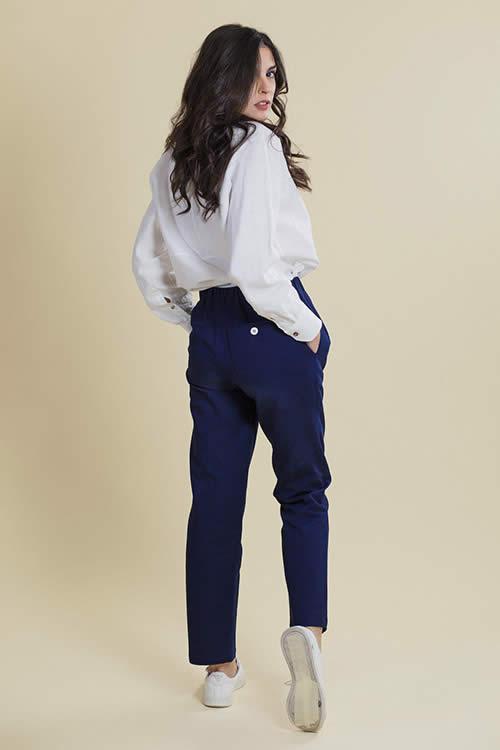 Cotton Blue Trousers
