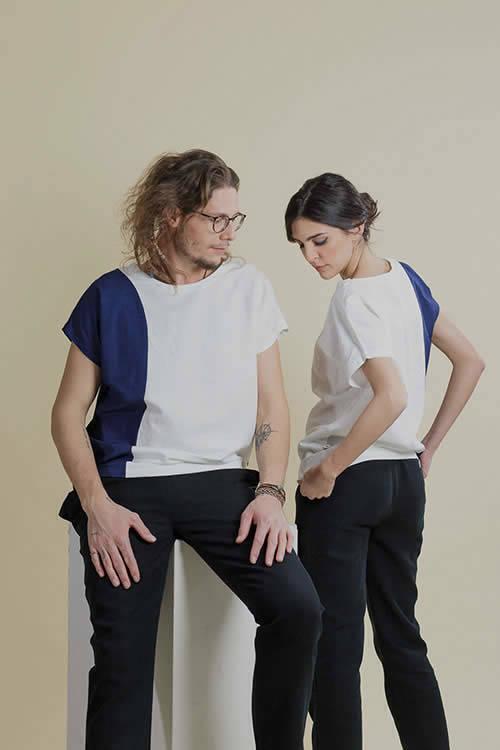 Cotton/Linen Black Trousers