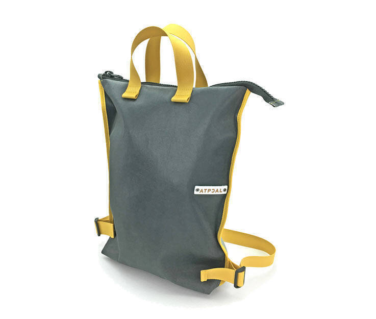 Tote Backpack - Art. Flat Urban Pack (Grey - Yellow)