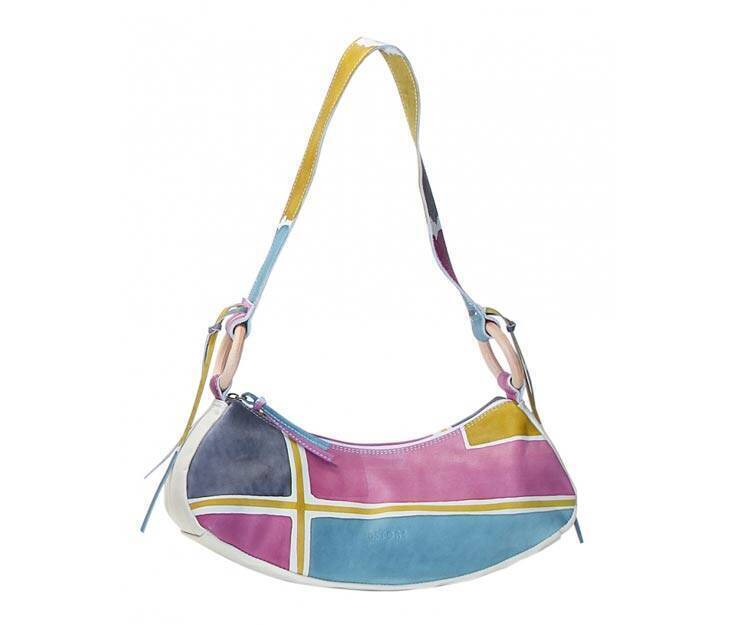 Small Handbag - Art. Acquerello Ice geometrico